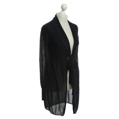 Max & Co cappotto di maglia in blu scuro