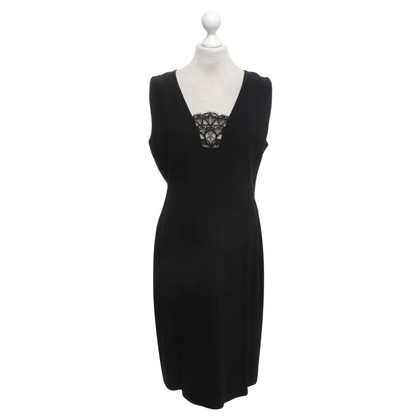 Alexander McQueen Black dress with lace insert