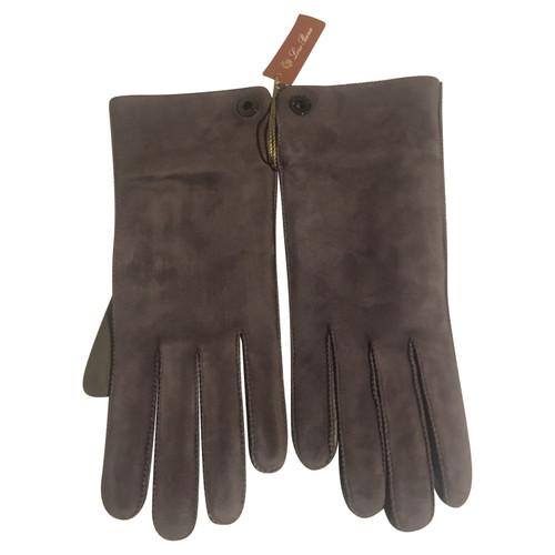 4c7f2dbf5ba81c Loro Piana Handschuhe aus Wildleder in Grau - Second Hand Loro Piana ...