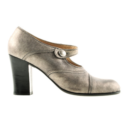 Prada Strappy pumps in silver grey