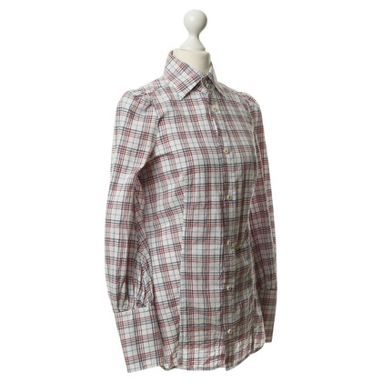 Dsquared2 Cotton blouse with Plaid