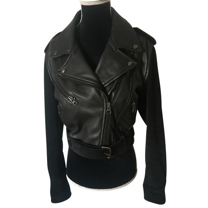 Acne Leather jacket in biker style