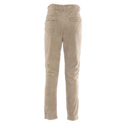 Brunello Cucinelli pantaloni in pelle scamosciata
