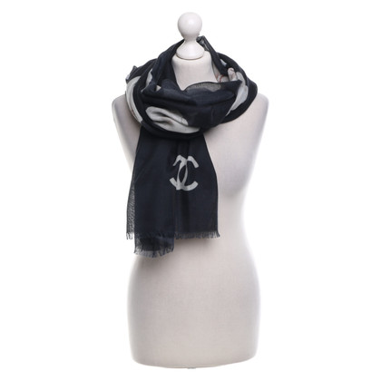 Chanel Scarf with floral pattern