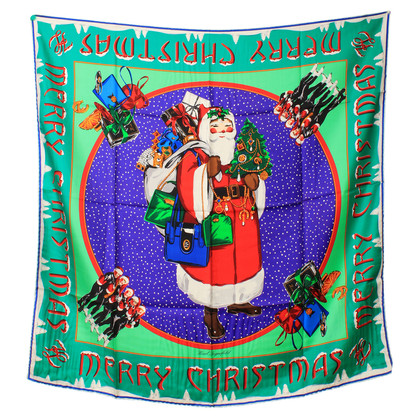 Karl Lagerfeld Silk scarf with a Christmas motif