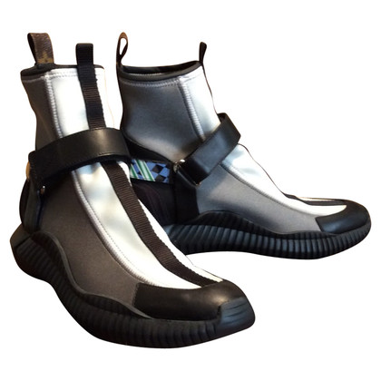 Louis Vuitton Leather and neoprene ankle boots