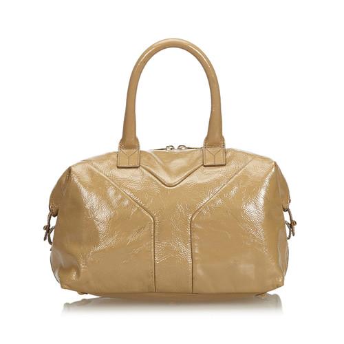 323ea2d48c143 Yves Saint Laurent Handbag Leather in Beige - Second Hand Yves Saint ...