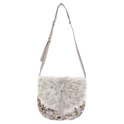 Fratelli Rossetti Shoulder bag with fur trim
