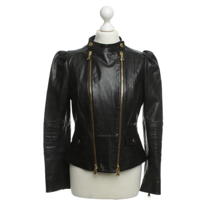 Moschino Cheap and Chic Lederjacke in Schwarz