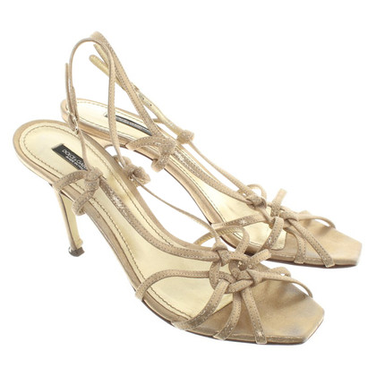 Dolce & Gabbana Gold-colored sandals