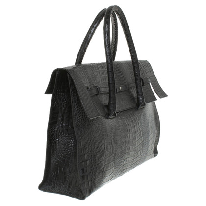 René Lezard lederen tas in zwart