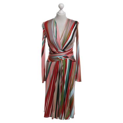 Issa Kleid mit bunten Streifen