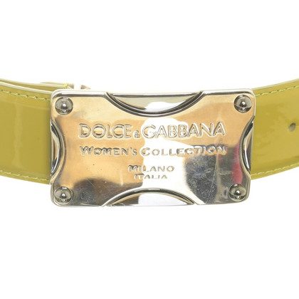 Dolce & Gabbana Green patent leather belt
