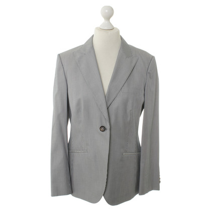 Brioni Grey/white striped Blazer