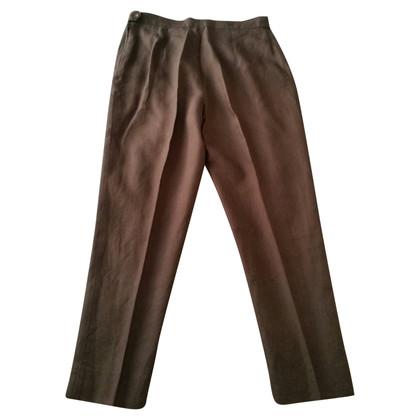 Marina Rinaldi Trousers in brown linen