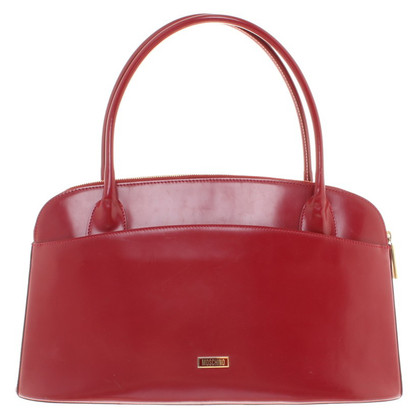 Moschino Handbag in wine red