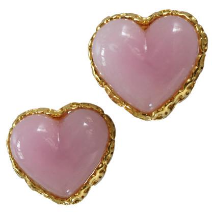 Chanel clip dell'orecchio a forma di cuore