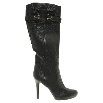 Fendi Leather boots with buckle