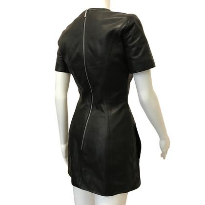 Karen Millen Vestito di pelle in nero