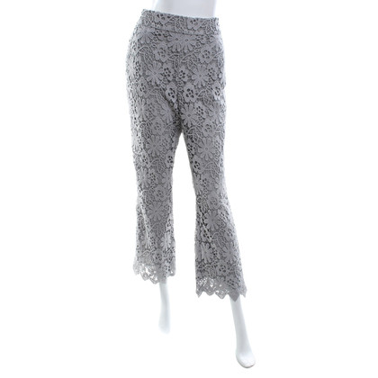 Dorothee Schumacher Light gray trousers with crochet lace