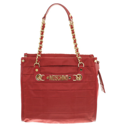 Moschino Handtas in Red