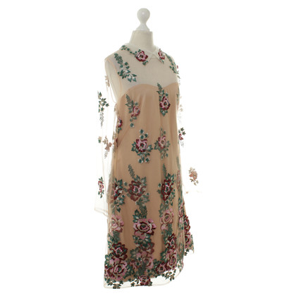 Marchesa Dress with floral embroidery
