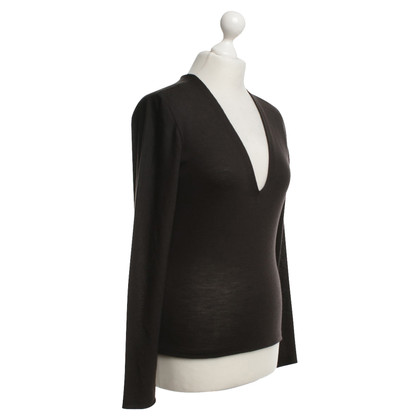 Yves Saint Laurent maglione Lino in nero