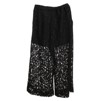 MSGM Lace Culotte in black