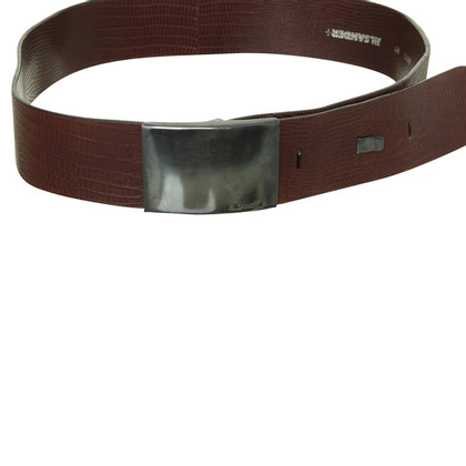 Jil Sander Belt in the reptile look