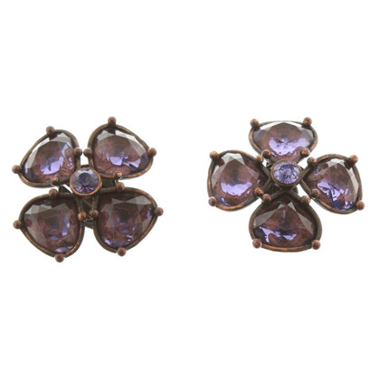 Yves Saint Laurent Earclips with jewelery