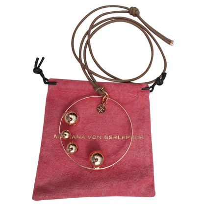 Marjana von Berlepsch Leather necklace with pendant