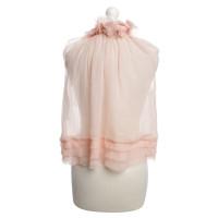 Nina Ricci Zijden blouse in roze