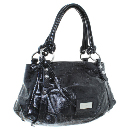 Coccinelle Patent leather handbag in black