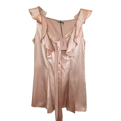 Miu Miu Silk top with bow