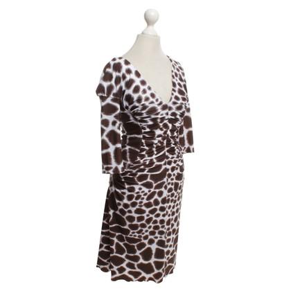 Roberto Cavalli Dress in white / brown