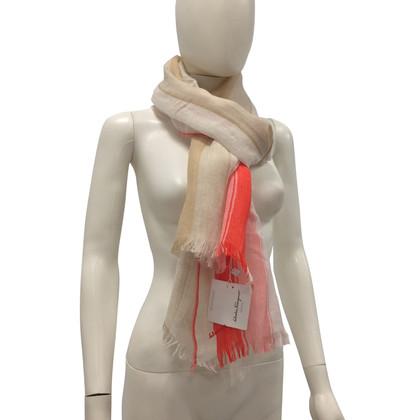 Salvatore Ferragamo Sjaal met cashmere