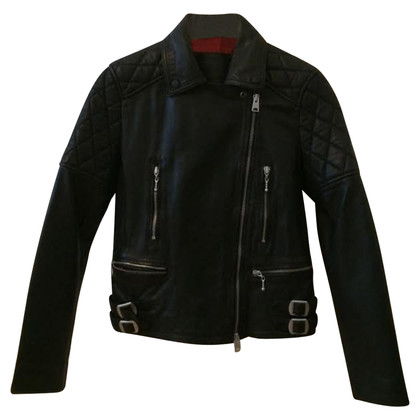 All Saints Leather Jacket zwart 36 / S