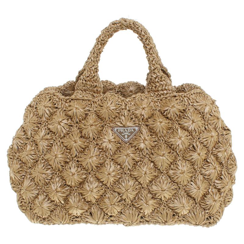 prada handbag made of bast buy second hand prada handbag made of bast for. Black Bedroom Furniture Sets. Home Design Ideas