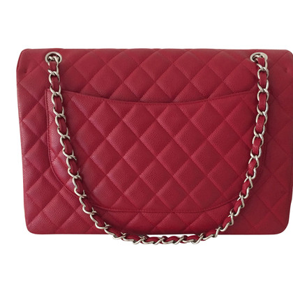 """Chanel """"Classic Jumbo Flap Bag"""" in red"""