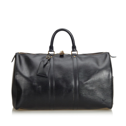6069d2daa919 Louis Vuitton Keepall 45 in epi leather in black - Second Hand Louis ...
