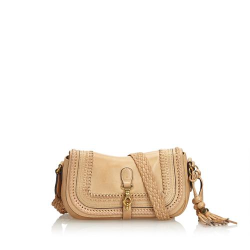 fb4712f7da6e Gucci Shoulder bag Leather in Beige - Second Hand Gucci Shoulder bag ...