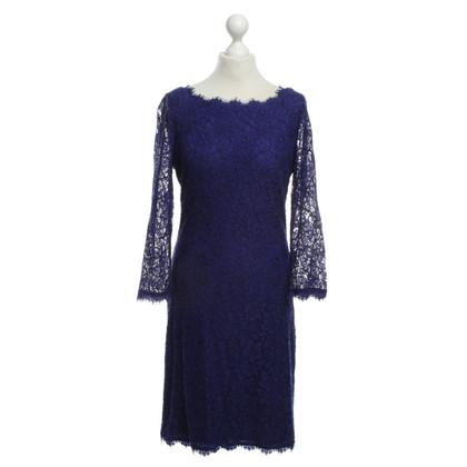 Diane von Furstenberg Kant jurk in blauw