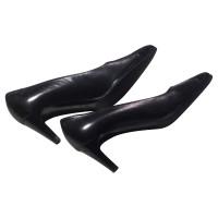 Chanel pumps en cuir noir