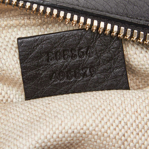 119d9e828dc1 Gucci Soho disco bag in black leather - Second Hand Gucci Soho disco ...