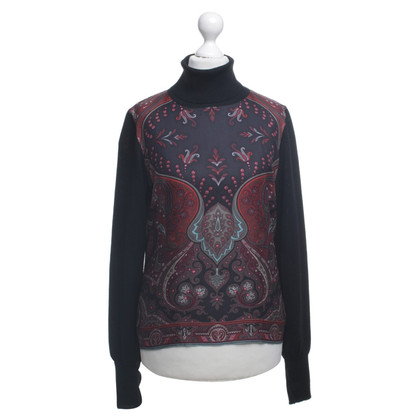 Etro Knit sweater with silk trim