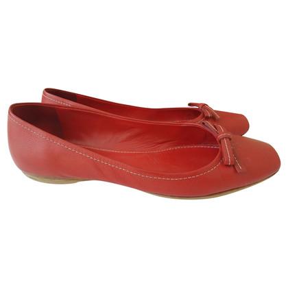 Miu Miu Ballerinas in Rot
