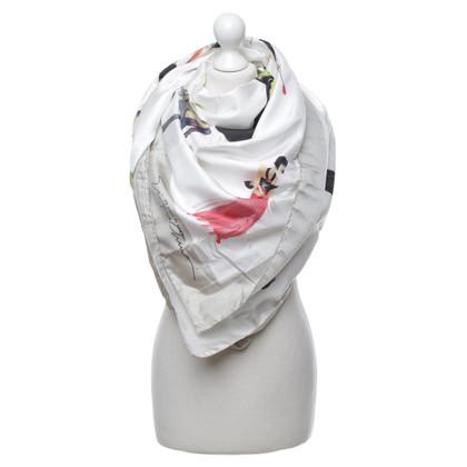 Armani Zijden sjaal met motief druk
