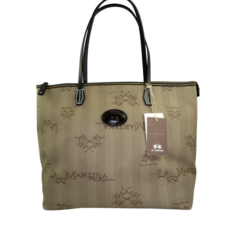 la martina shopper aus beschichtetem logocanvas second