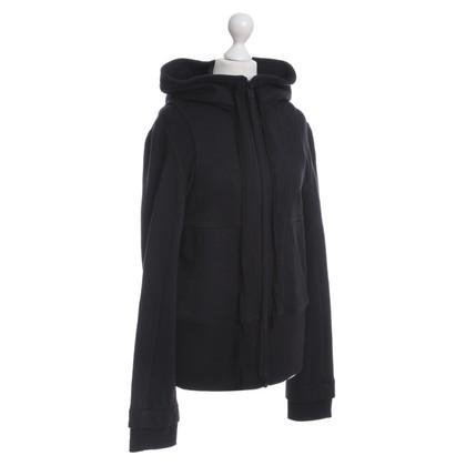 Ann Demeulemeester Hooded sweater in zwart