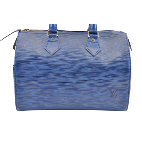 326e1f8f0f05 Louis Vuitton Speedy 25 made of Epi leather in blue - Second Hand ...